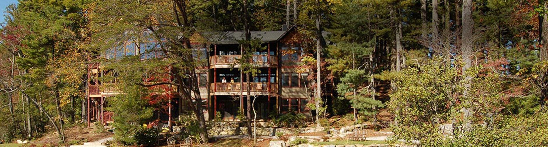 Panoramic photo of lodge